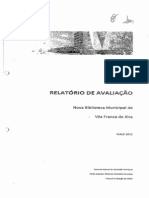 Relatório de Avaliação Da Biblioteca Municipal de Vila Franca