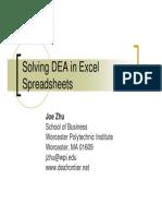 DEA Spreadsheet 2011