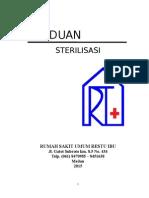 PANDUAN STERILISASI