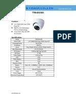 900TVL WDR Smart IR Metal indoor dome analog camera with 20M IR distance TTB-E823E5 www.ttbvs.com-TTB E823E5 Specification