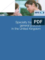 mps uk specialty training gp subscription rates for 2009