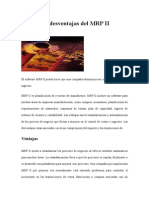 Ventajas y Desventajas Del MRP II