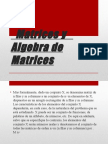 Matrices y Algebra de Matrices