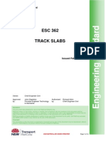 Engineering Standard - Track Slab -NSW