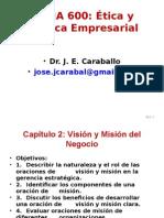 MANA 600 Cap 2 Visión Misión del Negocio marzo 2015.ppt