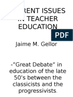 Ppt-current Issues in Teacher Education