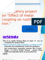 Investigatory Project on Metal coupling