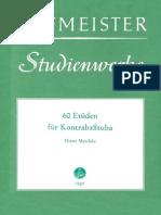 Hofmeister 60 Etuden Fur Tuba