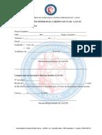 Ficha de Inscrição Para I CURSO SEMIOLOGIA CARDIOVASCULAR - LACCIC