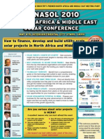 How to finance, develop and build utilty scale solar projects in MENA