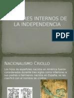 Factores Internos de La Independencia
