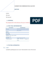 Method Statement for Compression Pile Load Test