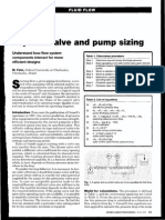 1998 - Improve Valve and Pump Sizing
