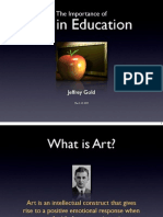 The Importance of Arts in Education by Jeffrey Gold