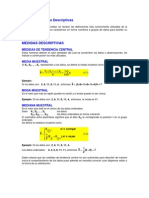 Medidas Descriptiva Datos No Agrupados