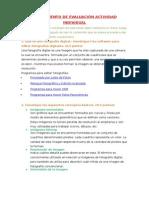 Instrumento de Evaluación Actividad Individual Sexto Bloque Informatica