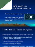 1 La idea de investigación