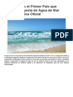 Nicaragua Es El Primer País Que Adopta La Ingesta de Agua de Mar Como Medicina Oficial _ Paradigma Terrestre