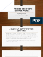 Certificado de Deposito y Bono de Prenda