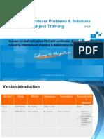 GSM P&O Training Material for Special Subject-Handover Problems & Solutions V1.1