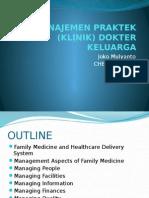 Manajemen Praktek (Klinik) Dokter Keluarga