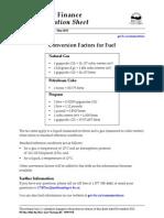 Conversion Factors natural gas