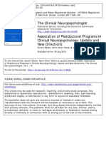 [1-6]Association of Postdoctoral Programs in Clinical Neuropsychology Update and New Directions