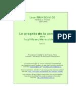Brunschvicg Progres Conscience t1