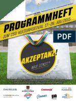 Programmheft zum Christopher Street Day (CSD) in Stuttgart 2015