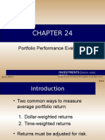 IAE Chap 24 Portfolio Performance Evaluation