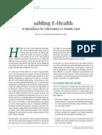 Advantage Enabling E-Health