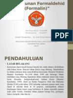 Keracunan Formaldehid (Formalin)