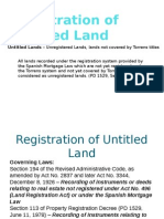 Registration of Untitled Land