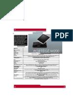 Toshiba Portege M200 Specification Brochure 17.11