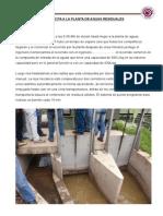 Informe de Vicita a La Planta de Aguas Residuales