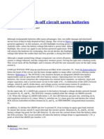 Automatic Latch Off Circuit Saves Batteries
