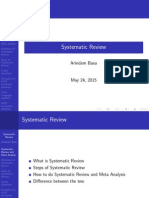 How to do systematic reviews