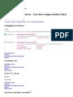 Camping Les Favieres à Lac Des Rouges Truites - Jura 39150