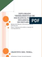 Herramientas para el desarrollo secretarial