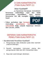 Defenisi Dan Karakteristik penelitian kualitatif