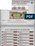 Dedham Public Schools proposed operating budget for fiscal 2011