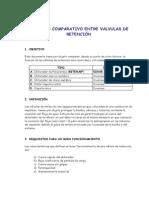 Analisis Comparativo Valvulas Retencion