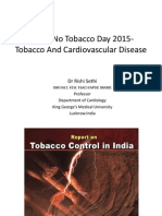 Tobacco and cardiovascular diseases - Professor Rishi Sethi