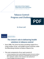Tobacco Control-Progress and Challenges - Dr Ehsan Latif