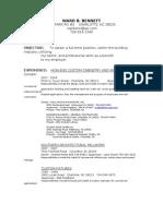 Ward Resume