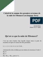 La Suite de Fibonacci
