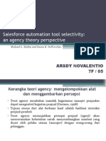 Salesforce Automation Tool Selectivity an Agency Theory Perspective
