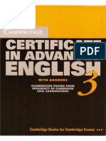 Cambridge Certificate in Advanced English  Book 3