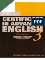Cambridge Certificate in Advanced English  Book 3