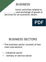 Business Env. 5th Aug